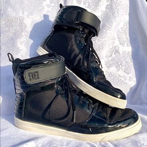 DC Mens High Top Sneakers Black Size 12
